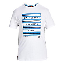 Buy Canterbury of New Zealand Hoop Stripe T-Shirt, White Online at johnlewis.com