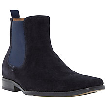 Buy Dune Marky Suede Chelsea Boots, Navy Online at johnlewis.com