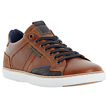 Buy Dune Tailored1 Side Stitch Leather Trainers, Tan Online at johnlewis.com