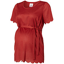 Buy Mamalicious Short Sleeve Maternity Scallop Top, Rosewood Online at johnlewis.com