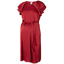 Buy Mamalicious Veronica Frill Sleeve Maternity Dress, Rosewood Online at johnlewis.com