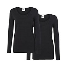 Buy Mamalicious Sofia Nell Long-Sleeved Maternity Nursing Top, Black Online at johnlewis.com