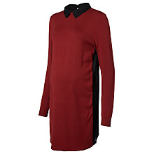 Buy Mamalicious Blair Long-Sleeved Maternity Tunic, Burgundy/Black Online at johnlewis.com