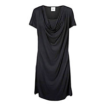 Buy Mamalicious Marylou Nell Waterfall Maternity Nursing Dress, Black Online at johnlewis.com