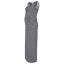 Buy Mamalicious Maia Zig Zag Maternity Maxi Dress, Blue/White Online at johnlewis.com
