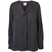 Buy Mamalicious Valenzia Maternity Nursing Shirt, Dark Grey Online at johnlewis.com