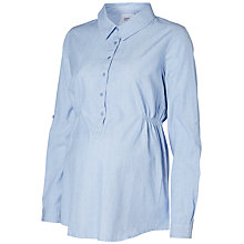 Buy Mamalicious Glenda Button Shirt, Light Blue Online at johnlewis.com