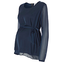 Buy Mamalicious Nori Maternity Top, Black Iris Online at johnlewis.com