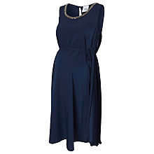 Buy Mamalicious Pearls Maternity Dress, Black Iris Online at johnlewis.com