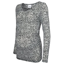 Buy Mamalicious Ani Maternity Long Sleeved Top, Grey Online at johnlewis.com