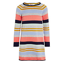 Buy John Lewis Girls' Stripe Knit Dress, Multi Online at johnlewis.com