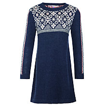 Buy John Lewis Girls' Fair Isle Knit Dress, Blue Online at johnlewis.com