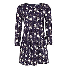 Buy John Lewis Girls' Twill 2 in 1 Swan Dress, Navy Online at johnlewis.com