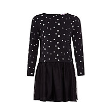 Buy John Lewis Girl Star Mesh Skirt Dress, Black Online at johnlewis.com