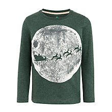 Buy John Lewis Boy Glow In The Dark Santa Sleigh Moon T-Shirt, Green Online at johnlewis.com