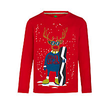 Buy John Lewis Boy Snowboarding Reindeer Long Sleeve T-Shirt Online at johnlewis.com