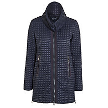 Buy Armani Jeans Circle Quilt Coat, Navy Online at johnlewis.com