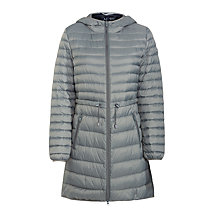 Buy Armani Jeans Drawstring Coat, Grey Online at johnlewis.com