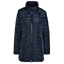 Buy Armani Jeans Long Hooded Quilted Coat Online at johnlewis.com