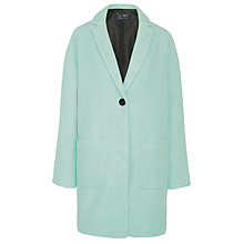 Buy Armani Jeans Single Breast Wool Coat, Sage Online at johnlewis.com