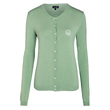 Buy Armani Jeans Pearl Button Cardigan, Sage Online at johnlewis.com