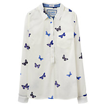 Buy Joules Charlotte Butterfly Print Shirt, Cream Butterfly Online at johnlewis.com
