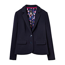 Buy Joules Georgie Jersey Blazer, Navy Online at johnlewis.com