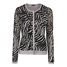 Buy Gerry Weber Chiffon Cardigan, Grey Online at johnlewis.com
