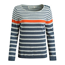 Buy Seasalt Shark's Fin Stripe Jumper, Sandhill Lead Online at johnlewis.com