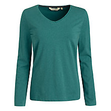 Buy Seasalt Meadow Pipit Long Sleeve Top, Jewel Online at johnlewis.com