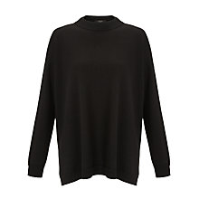Buy Weekend by MaxMara Side Split Jumper, Black Online at johnlewis.com