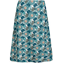 Buy Seasalt Portfolio A-Line Print Skirt, Headland Floral Salt Online at johnlewis.com