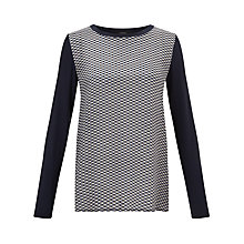 Buy Weekend by MaxMara Silk Front Grid Top, Ultramarine Online at johnlewis.com