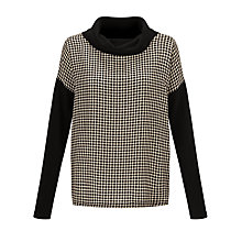 Buy Weekend by MaxMara Silk-front Jumper, Black Online at johnlewis.com