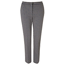 Buy Weekend by MaxMara Grid Print Trousers, Midnight Blue Online at johnlewis.com