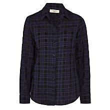 Buy Weekend by MaxMara Jazz Check Shirt, Ultramarine Online at johnlewis.com