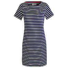 Buy Joules Riviera Stripe Jersey Dress, French Navy/Cream Online at johnlewis.com