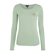 Buy Armani Jeans Logo Scoop Neck T-Shirt, Sage Online at johnlewis.com