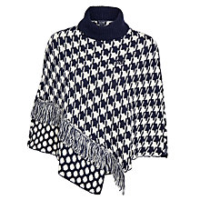 Buy Armani Jeans Dogtooth Dot Poncho, Navy Online at johnlewis.com