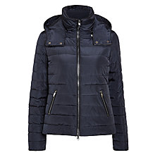 Buy Armani Jeans Hooded Quilted Jacket, Navy Online at johnlewis.com