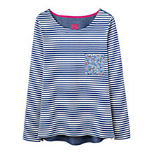 Buy Joules Stripe Jersey Top, Blue Online at johnlewis.com