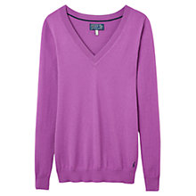 Buy Joules Polly V-neck Jumper, Mauve Online at johnlewis.com