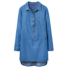 Buy Joules Sadie Chambray Tunic Dress, Blue Online at johnlewis.com