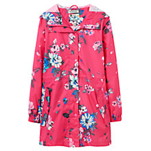Buy Joules Right as Rain Golightly Printed Waterproof Parka, Pink Posy Online at johnlewis.com