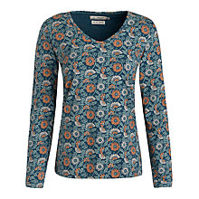 Buy Seasalt Blazey Long Sleeve Print Top, Cottage Flower Galley Online at johnlewis.com