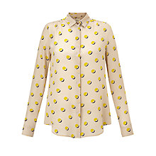 Buy Weekend by MaxMara Print Silk Shirt, Yellow Online at johnlewis.com