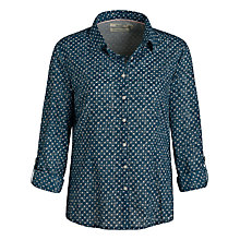 Buy Seasalt Larissa Print Shirt, Woodblock Spot Pewter Online at johnlewis.com