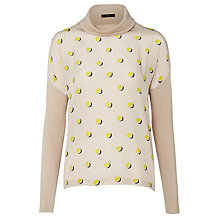Buy Weekend by MaxMara Hateley Silk Front Jumper, Beige/Yellow Online at johnlewis.com