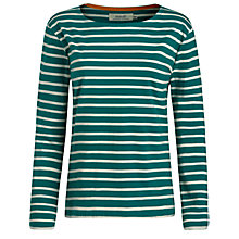 Buy Seasalt Sailor Jersey Top, Jewel/Ecru Online at johnlewis.com
