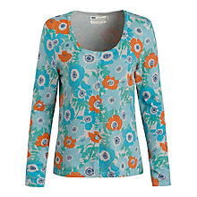 Buy Seasalt Whistle Print Cardigan, Penwith Anemones Seaspray Online at johnlewis.com